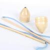 木制陀螺 儿时经典传统玩具 甩陀螺 1大1小 AF00101