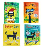Pete the Cat皮特猫系列 5本平装大开本套装 英文原版进口 经典少儿绘本  吴敏兰书单推荐 Pete the Cat I Love My White Shoes送音频