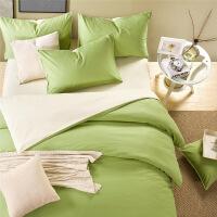 床上四件套棉纯棉简约纯色床单ins网红被套女酒店风1.2三件套男