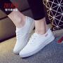2018春款小白鞋女学生帆布鞋休闲鞋白色球鞋平底板鞋学生系带布鞋女鞋