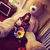 陈乔恩同款美国大熊泰迪熊熊超大号公仔抱抱熊送女友毛绒玩具女生