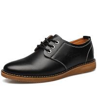 波图蕾斯秋冬新款男鞋系带休闲鞋英伦商务休闲皮鞋青年低帮板鞋