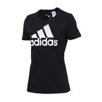 Adidas阿迪达斯 女装 2018新款训练运动休闲圆领短袖T恤 CV4561