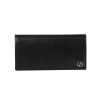 Z ZEGNA 杰尼亚 男士黑色皮质长款对折钱包钱夹 E1176Z PLM NER