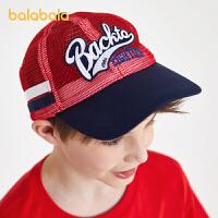 【五一出游季 4件4折:20】巴拉巴拉儿童帽子男潮夏装新款男童鸭舌帽时尚透气网布棒球帽