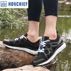 HONCHIEF 红蜻蜓旗下2017夏季新款正品时尚透气休闲潮流运动男鞋