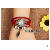 石英编织时装复古女表真皮手链 表学生韩国个 性时尚潮流手表