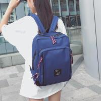 14寸韩版电脑包潮女大容量中学生书包学院风简约旅行 蓝