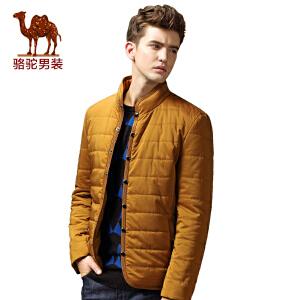 骆驼&熊猫联名系列男装棉服 时尚青年单排扣冬款纯色保暖棉衣潮男