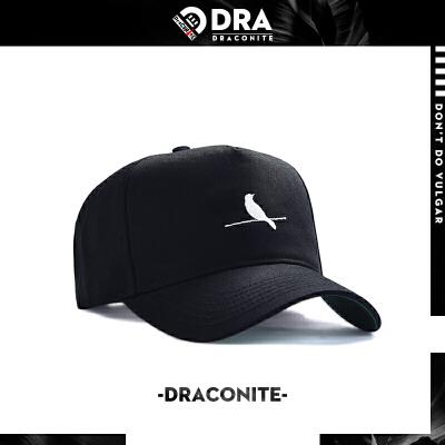 DRACONITE嘻哈街头风鸭舌帽男时尚刺绣遮阳休闲出游弯檐帽子