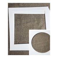 相框用卡纸 正方型相框卡纸照片墙用内衬卡纸33/38宣纸画画框装裱卡纸片白色 白色 外径33X33cm内圆型27.5C