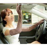 女韩版遮阳防晒手 套防 紫外线蕾丝开车防滑加长手套