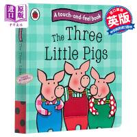 【中商原版】英文原版 The Three Little Pigs 触摸和感受童话故事:三只小猪