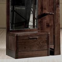 实木试衣镜黑胡桃木穿衣镜卧室试衣镜中式实木家具010 胡桃色(850*365*1820) 其他
