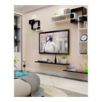 创意简约烤漆格子免打孔装饰置物架搁板层架电视背景隔板墙壁挂架