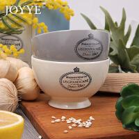 joyye 法式简约米饭碗情侣对碗 防烫陶瓷碗小汤碗微波炉饭碗餐具