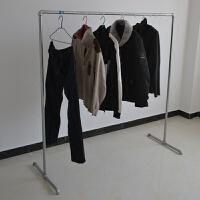 镀锌水管晾衣架落地单双杆户外家用加厚折叠可拆卸晾衣架厂家直销 1个