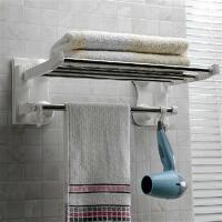 双庆家居 浴室可折叠吸盘浴巾架不锈钢毛巾架40cm SQ-1905