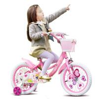 儿童自行车16/14/12/18寸女孩宝宝单车2-3-6-8岁小孩女童童车