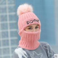 逛街毛线帽子围脖一体女韩版百搭简约时尚新款加厚保暖毛线帽