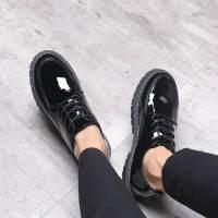 金牛骑士夏季男士休闲鞋英伦皮鞋学生韩版潮流透气男鞋社会青年商务小皮鞋