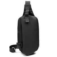 胸包男小包包斜挎包运动休闲包帆布背包韩版单肩男士腰包黑色