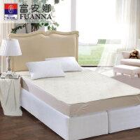 富安娜家纺秋冬床护垫席梦思保护垫床褥羊毛保护床垫素雅娴静