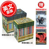 现货 神奇树屋 1-55全套 英文原版 Magic Tree House 神奇树屋1-28套装+ 梅林的任务1-25(29-53盒装)+54和55单本