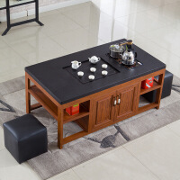 功夫茶几客厅小茶桌现代新中式功夫茶桌小户型茶几带电磁炉自动上水茶具客厅办公茶台 组装