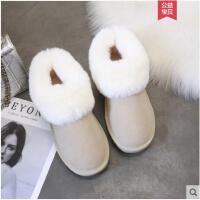 雪地靴女新款冬季潮短筒加绒韩版面包鞋网红短款学生毛毛棉鞋