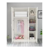 板式衣柜简约现代经济型柜子衣柜卧室木质大衣柜衣橱衣柜23门 高180宽140深50()暖白色