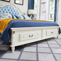 20190403031103297美式床全��木床�W式床�p人床��W主�P1.8米公主床1.5白色美式家具 +3D床�|+2��床