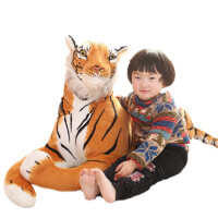 可爱仿真老虎公仔毛绒玩具玩偶抱枕布娃娃宝宝儿童生日礼物男女孩110cm