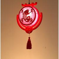 中式灯笼阳台个性创意仿古新年结婚实木红色古典LED客厅吊灯