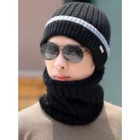 男士帽子时尚潮韩个性男针织帽逛街保暖潮牌围脖两件套毛线帽