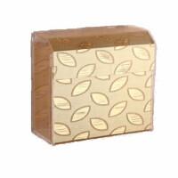 免打孔厕纸盒 防水长方形纸巾盒卫生间草纸盒厕所卫生纸置物架网红 金色叶子