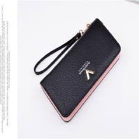 手拿包女士钱包女长款韩版多功能小清新零钱卡包拉链