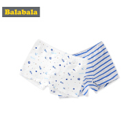巴拉巴拉儿童内裤男四角裤男童短裤底裤宝宝棉小孩平角裤头两条装