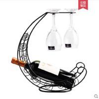 铁艺红酒架摆件时尚家居葡萄酒瓶架红酒杯架挂杯酒瓶架家用时尚新品欧式新颖