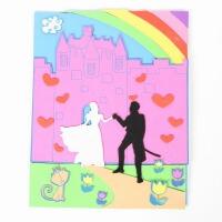 大贸商 DIY手工制作王子与公主3D城堡泡沫拼图 粘贴玩具AS00331