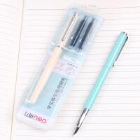 得力S661学生练字钢笔可吸墨可替换墨囊两用钢笔笔尖0.38mm