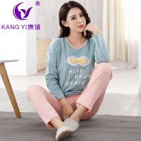 香港康谊秋冬季产妇月子服秋冬季孕妇产后纯棉长袖喂奶哺乳睡衣套装