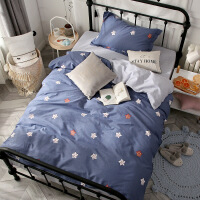 棉三件套件1.5m单人床单被套 1.2米学生宿舍纯棉床上用品
