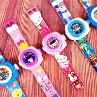 儿童卡通投影手表电子表男孩女孩手表发光宝宝玩具小孩子生日礼物