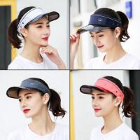 休闲百搭防晒帽时尚女士空顶帽 户外遮阳帽女防晒棒球帽 新款女士帽子