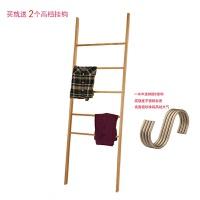 衣帽架小梯子衣架 个性落地 北欧简约日式 衣帽架 松木实木创意 纯实木-无漆(现货) 日式新款
