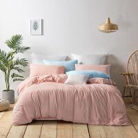 LOVO家纺 水洗床品四件套被单床单套件 洛克菲