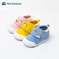 迷你巴拉巴拉婴儿学步鞋2021春季男童女童软底机能鞋防滑透气鞋子