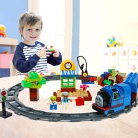 橙爱惠美  儿童早教益智拼插大颗粒积木玩具电动轨道火车玩具 礼物