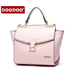 【支持礼品卡】DOODOO 包包女包2017新款时尚日韩翅膀包单肩包休闲白带斜挎手提女式小包 D6002